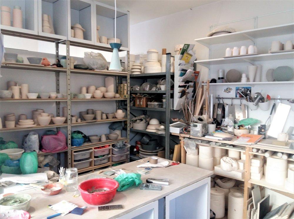 L'atelier d'Hélène Morbu, à Nantes