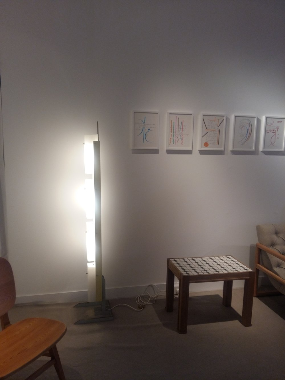 Stand de la galerie Eric Phillipe - Dessins de Gio Ponti.jpg