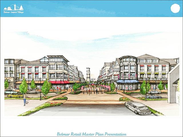Project: Belmar Seaport Village  Location: Belmar, NJ Client: The Gale Company Scope: Master Redeveloper of large scale transit Village project #estate #residence #village #realestate #agent #gale #seaport #port #sea #belmar #concept #drawing #hand #handmade