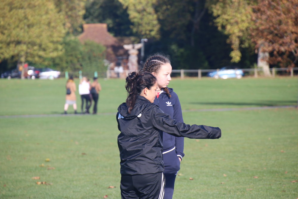 Girls United coaches aim to give individual tasks and challenges to support players' development