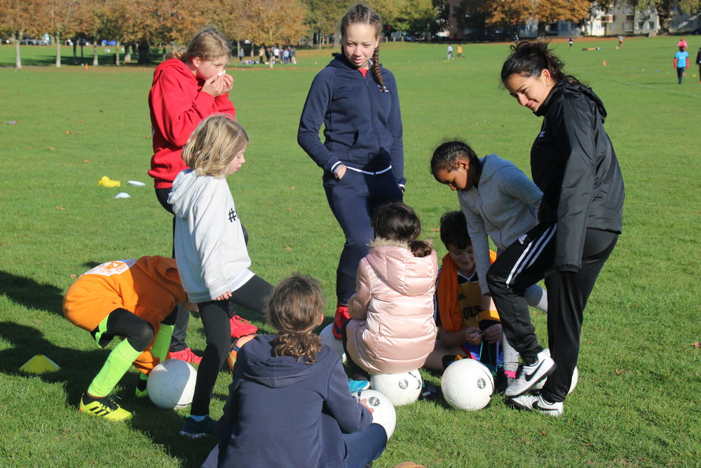 Leadership and problem solving tasks are a big part of our sessions to build life skills as well as ball skills