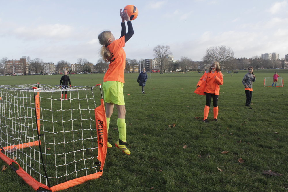 Players are encouraged to try new skills in a variety of positions and scenarios each session