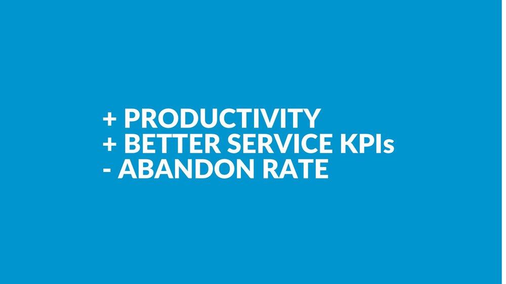 + Produktivität+ Service KPIs- Abbrüche Sales - Messbare KPI Verbesserungen durch Einsparung von Zeit und Services die durch Interaktionskonzepte ein Erlebnis sind.