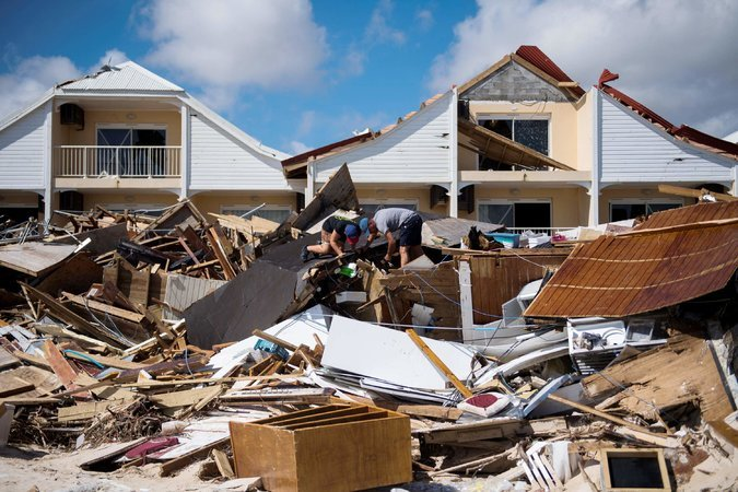 Destroyed homes in St Martin.  Image from NY Times article mentioned above.