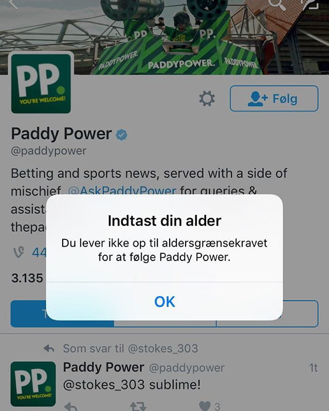 Fuck jer #paddypower