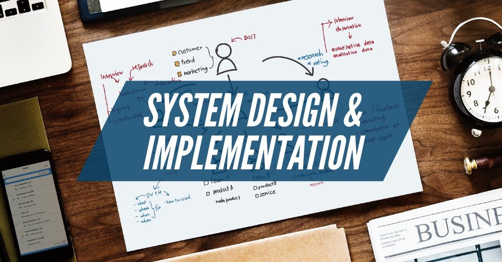 SYSTEM DESIGN & IMPLEMENTATION      If you're contemplating implementing a new system or need to make improvements to those already in place contact us to see how we can help.  Areas of expertise: POS, Payroll, Accounting Systems, Marketing Integration.