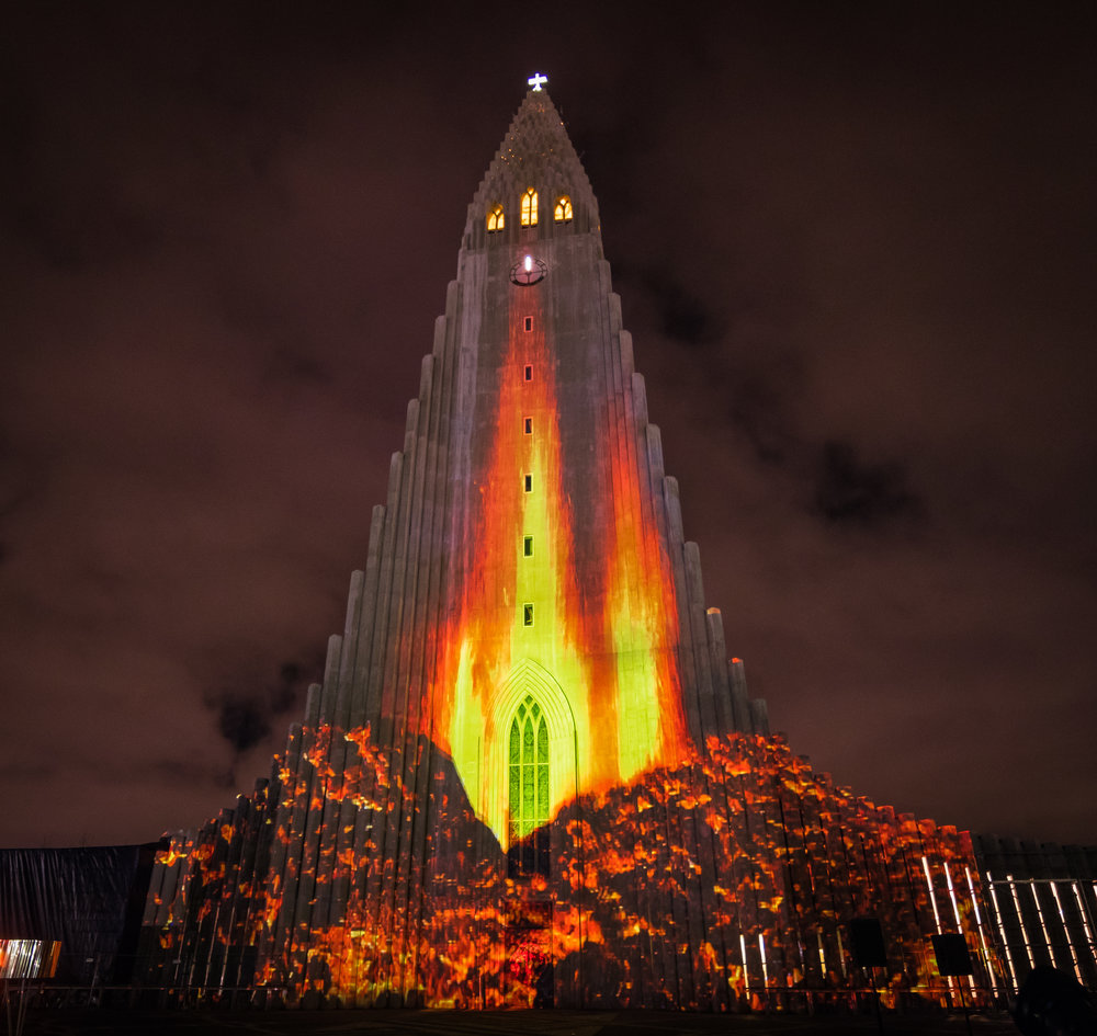 Opening ceremony of Festival of Winter Lights at the Hallgrímskirkja
