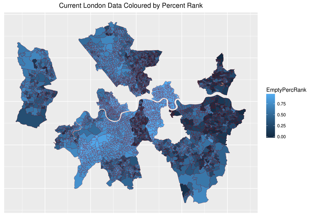 There seem to be a few boarder discontinuities particularly with Lambeth middle south, these differences need careful investigation to understand the data.