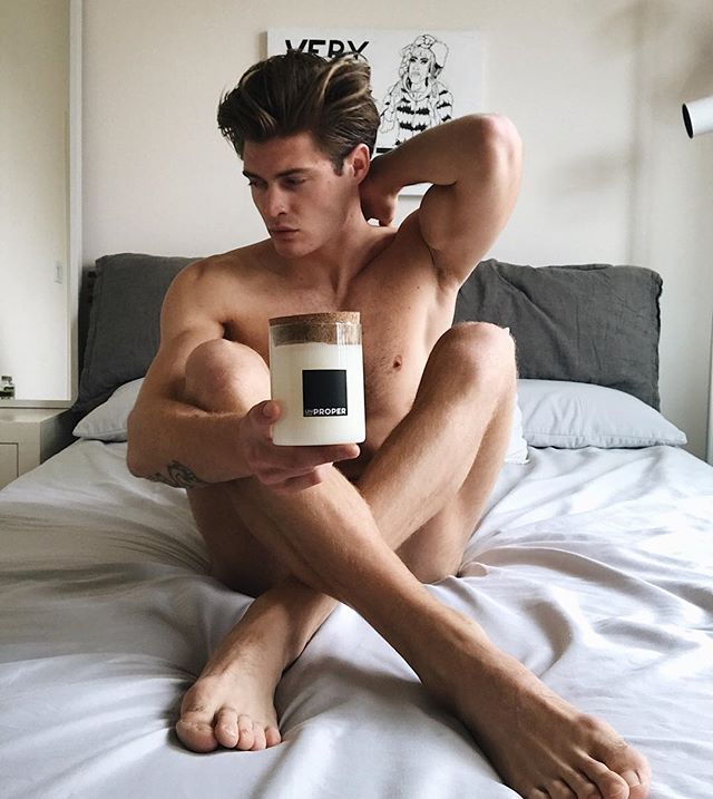 I plan on staying in all weekend with my #mandle . . . #mandle #candle #candles #home #decor #bed #weekend #men #man #scent #homemade #wax #sexy #naked #nakedman #hunk #stud #gay #instagay #gayman #body #handsome