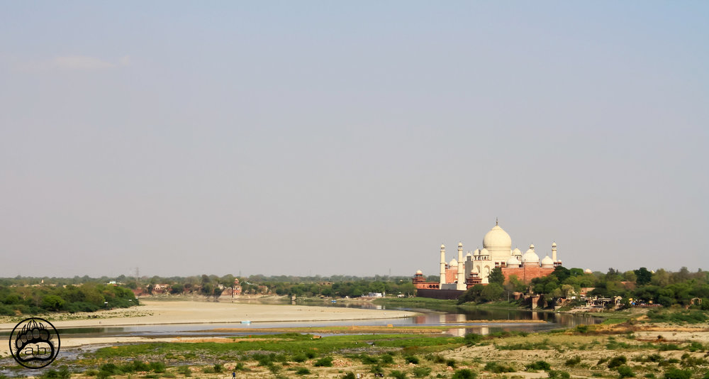 India. Agra, Uttar Pradesh. April 14, 2011. Recent concerns from the Indian government indicate that pollution, construction, and insect feces are changing the color of the infamous Taj Mahal (shown here on the Yamuna River) from a pure white to yellow, brown, and even green. The Yamuna river is the longest tributary of the Ganga (Ganges) river, which flows through India and Bangladesh, supporting over 500 million people daily. Sacred in the Hindu religion, the Ganges and Yamuna rivers have long been an ecological disaster, due to high levels of toxic waste and extreme pollution. In 2017, the High Court of Uttarakhand issued a decision recognizing the Ganges and Yamuna rivers with rights as legal persons that must be upheld and protected. The Ganga Action Parivar group fights for national and international recognition using the proposed Ganga Rights Act.