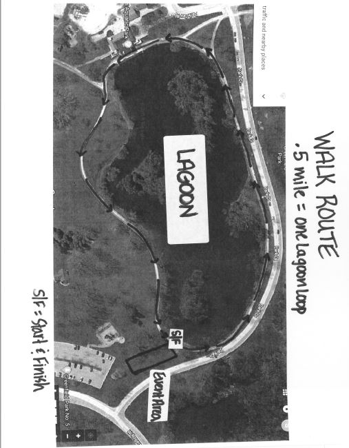 Walk info and route: - Enter off of 124th Street and follow volunteer's directions for parking along the Main Street drive and in the large lot. You may have a short walk to our event area.7:30am to 9:30am Event day registration (LOOK FOR ORANGE MYLAR BALLOONS, CASH OR CHECK ONLY) and pre-registered bag pick-up9:45am Announcements and welcome for Fun Walk10:00am KIDS DASH DIVISIONS - boys&girls 12 to 9 years, boys&girls 8 to 5 years, boys&girls 4 years and under. All will receive a ribbon.10:20am Fun Walk departs on park path for a half mile loop around the lagoon (feel free to walk it more than once).11:00am Rowdy Race Day Raffle Winners drawn - must be present to win. Water and refreshments, group photos and family games provided.Noon event ends, see you on August 10, 2019!NEW THIS YEAR: bring your own picnic and enjoy lunch on your own with other spina bifida families. Picnic tables in the grass, a playground and restrooms are available. Please be respectful of park rules, clean-up and recycle. Spina Bifida Wisconsin staff will be hanging around until 12:30pm to answer any questions and help people meet their peers. Enjoy!Event/Park Rules: No pets, no smoking, no vaping, no alcohol, no roller-blades or skateboards. This event will run rain or shine (events may be delayed for inclement weather)DOWNLOAD PDF OF WALK ROUTE MAP CLICK HERE