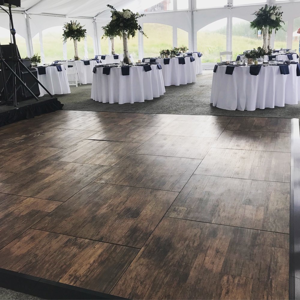 Brushed Oak Dance Floor