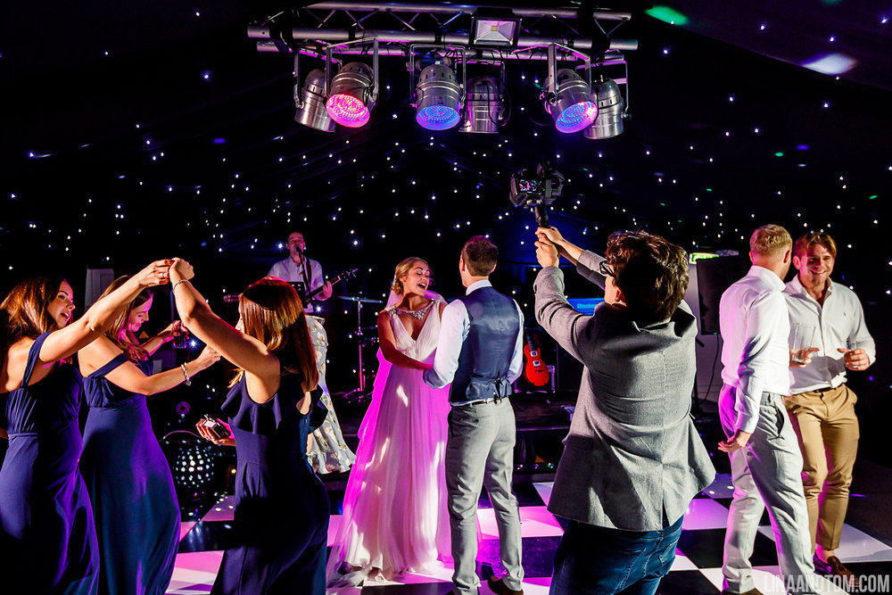 Evening Package - - 2 x 45 minute uptempo sets of live music- Complimentary DJ sets from 7 pm until midnight- A top-class sound & lighting setup- Choose up to 4 live song requests (including first dance song)