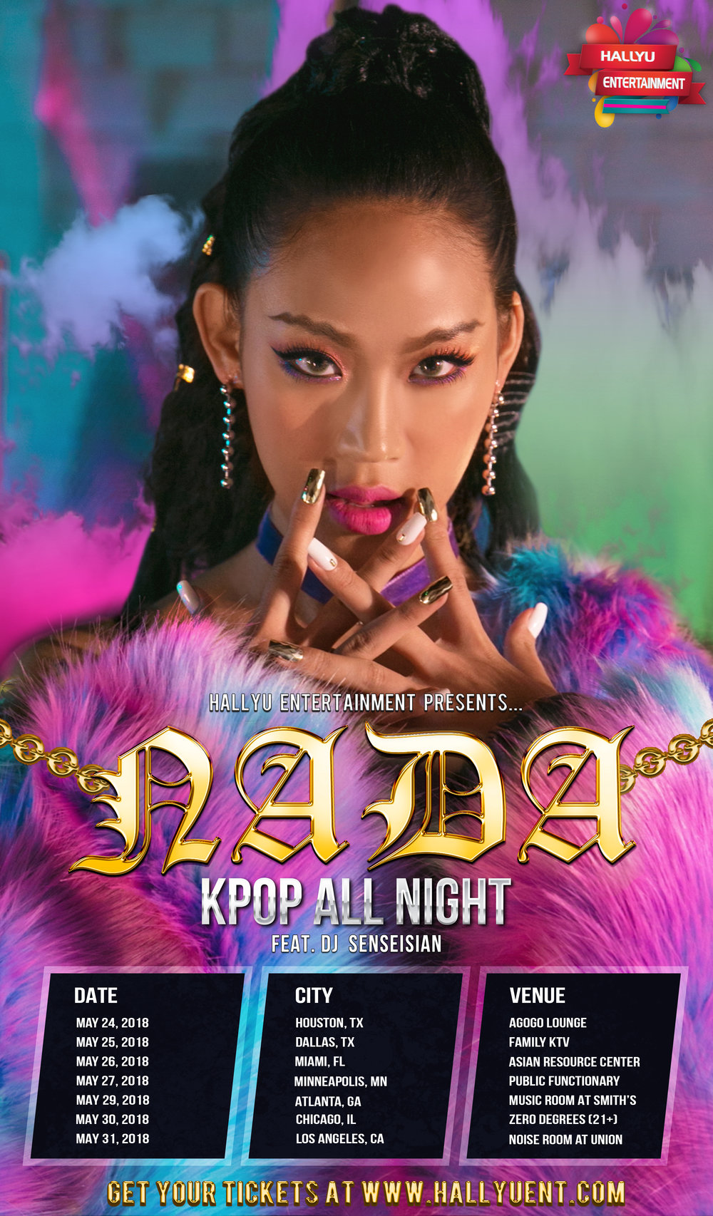 Nada Tour Poster Flyer KPOP ALL NIGHT