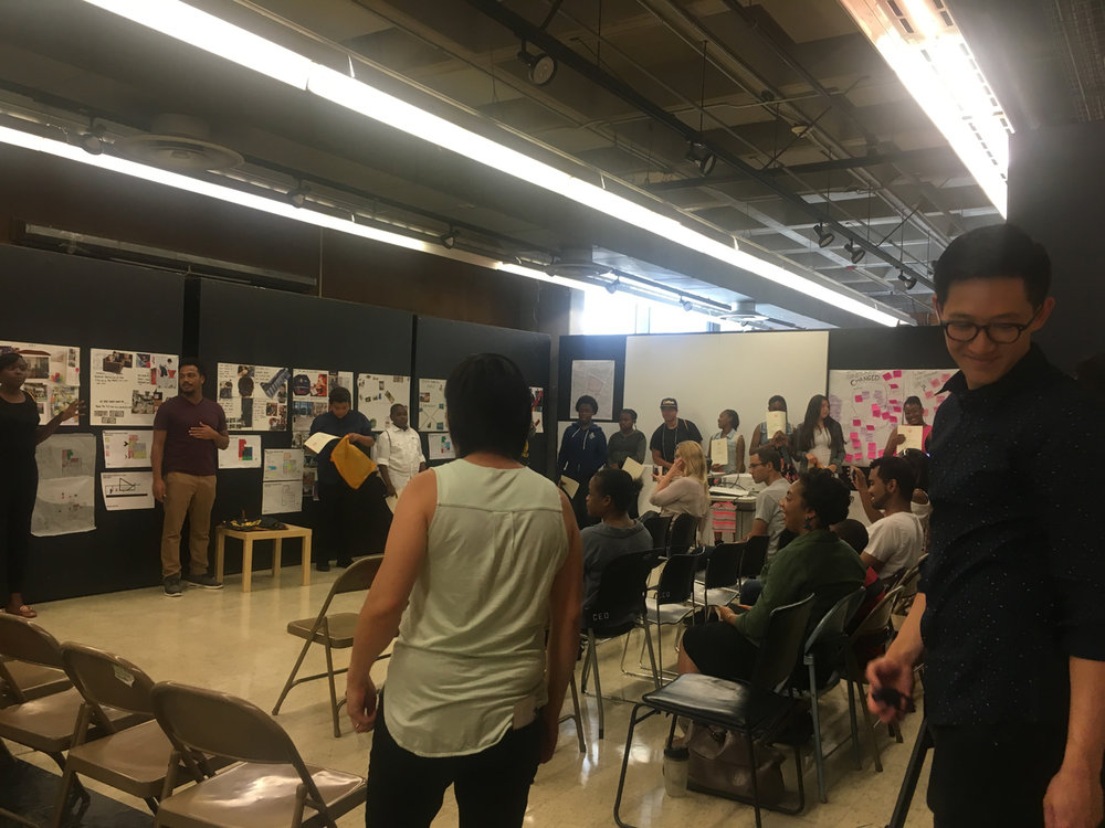 The students presented their ideas through material boards, Zoning and models.