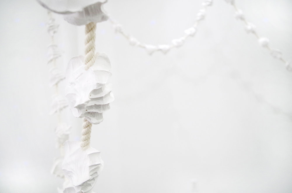 Holding Space(Prayer Necklace) Cotton rope, plaster 39 ft, 2016 detail 04.jpg