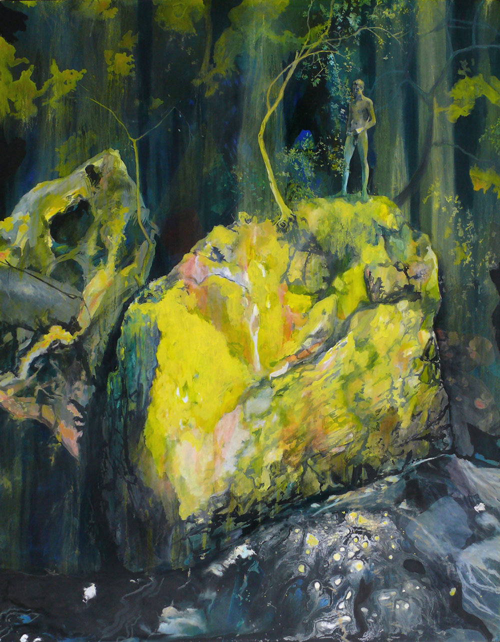 "Oblivion,  Acrylic on panel, 48 x 60""  2013"