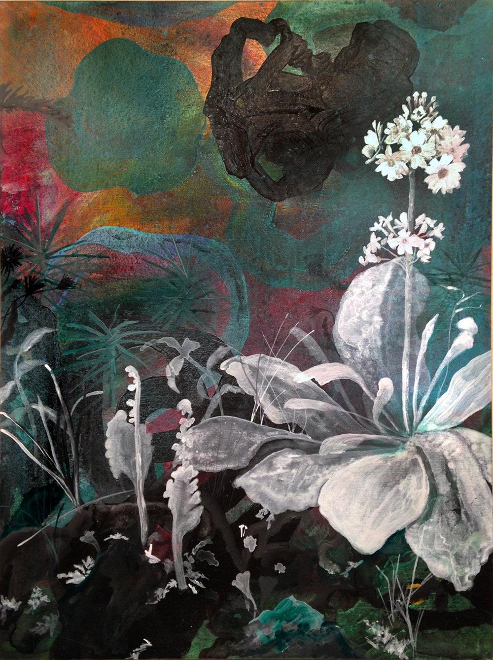 """Memory,  Acrylic on panel, 16 x 12""""  2016"""
