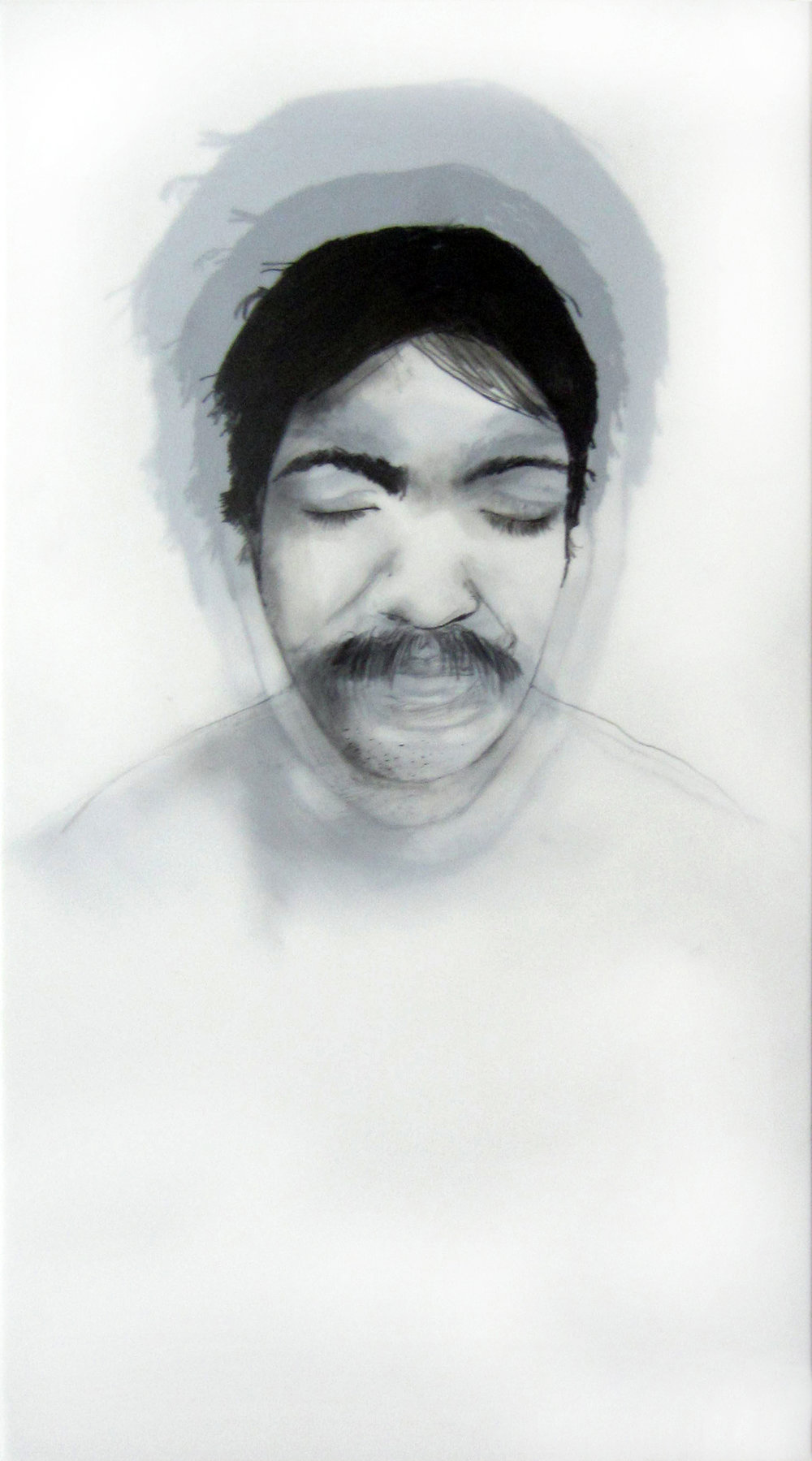 "Being (Carlos)   Graphite on dura-lar, 9 x 11""  2013"