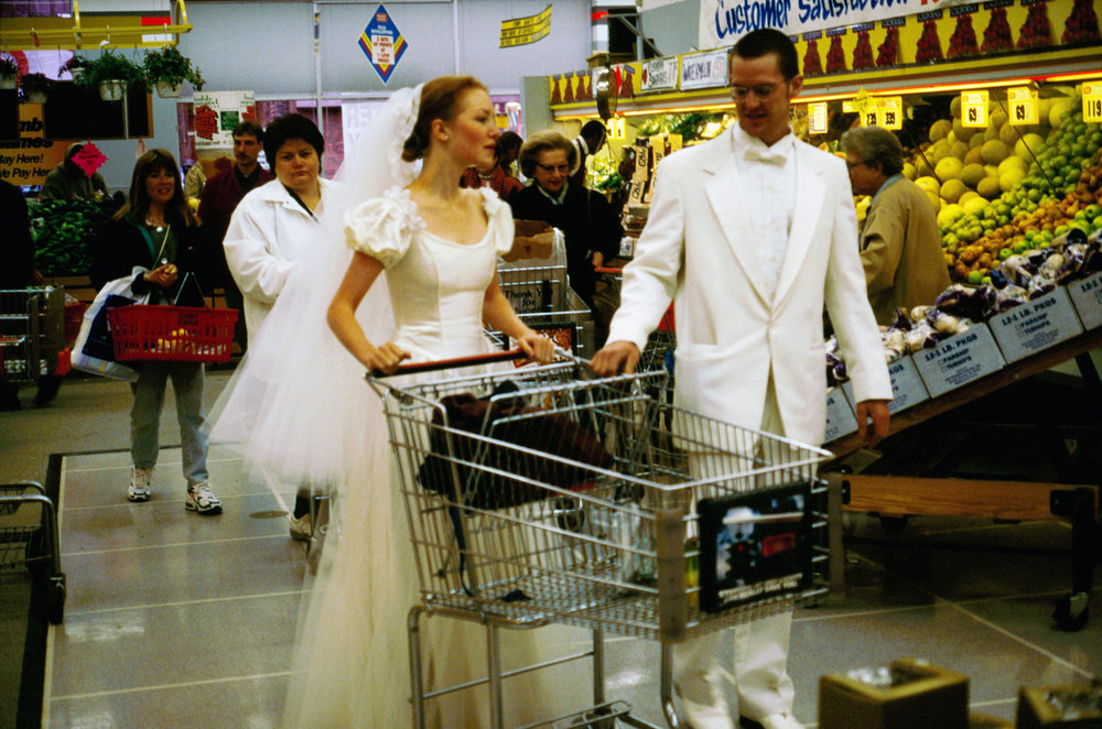 Week of Wearing White   Leah and Colin Piepgras Performance, Pittsburgh,PA  Wedding dress and tux worn for 7 days.  1995