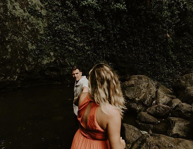 Wandering into waterfalls 🖤 . . . . . #radstorytellers #adventurouslovestories #adventurousweddingphotographer #intimateweddingphotograher #mauielopement #oahuwedding#elopementphotographer  #destinationweddingphotographer #dirtybootsandmessyhair #junebugweddings #honoluluweddingphotographer #mauiwedding 