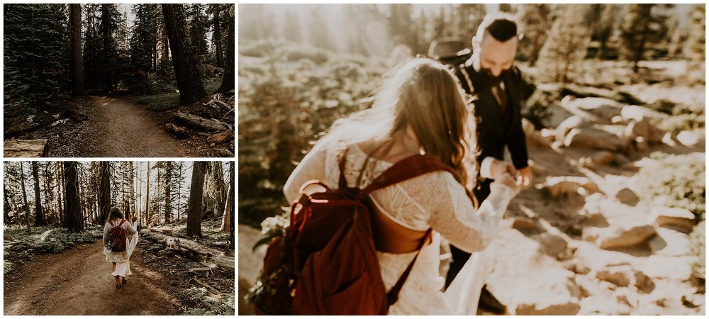 adventurous elopement in yosemite
