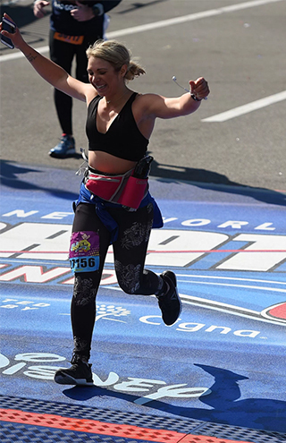Mandy Gill - Marathon Finish Line