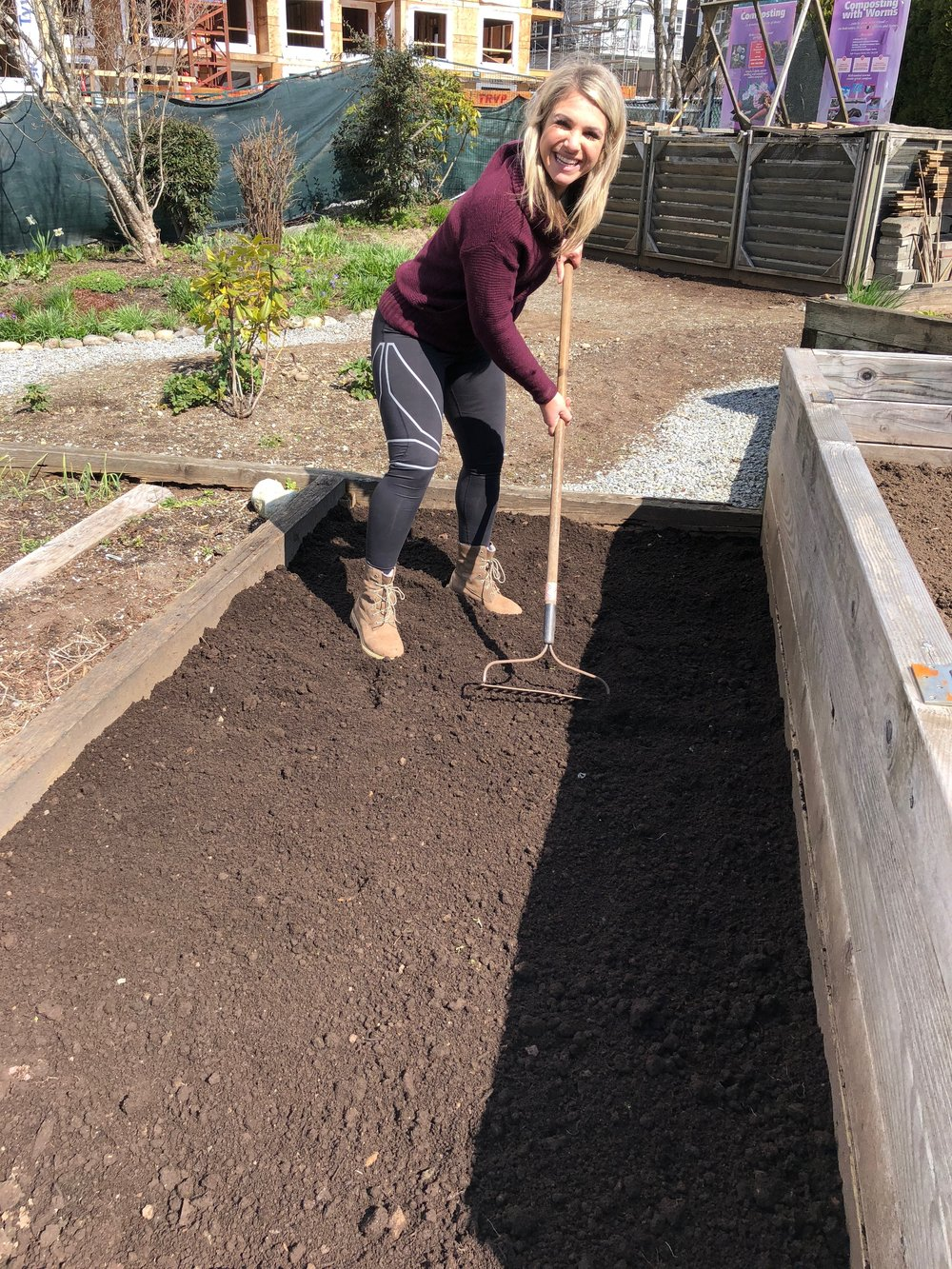 Working away in my community garden!