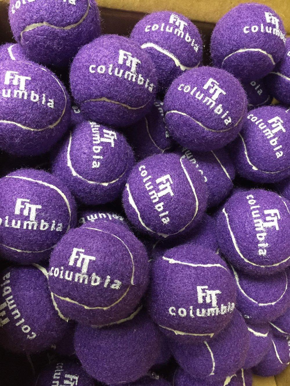 Purple Tennis Balls