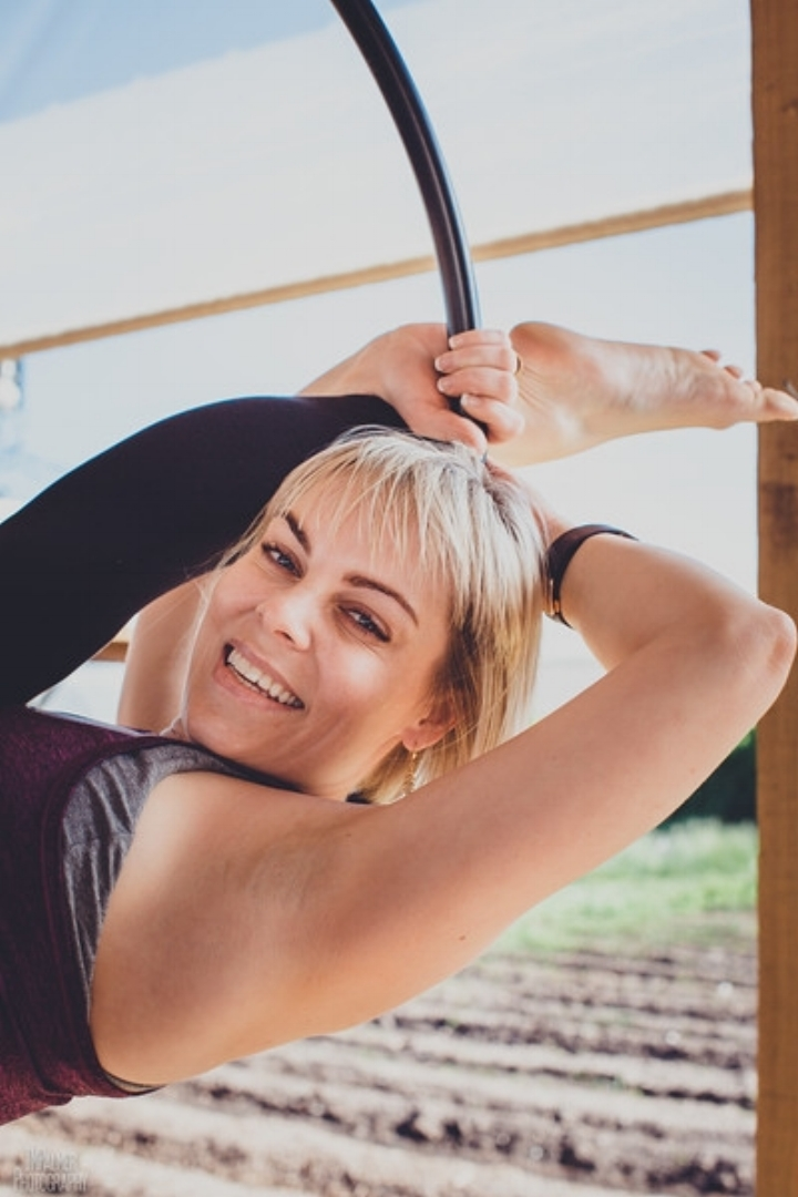 - la miller, level 2 aerial silks instructorCertification - 200-YT, Aerial SilksLA is a high energy, motivational trainer and with her positive attitude believes that fitness should be fun for everyone. LA also studied ballet, lyrical dance and gymnastics.LA has been studying Kundalini yoga for seven years under Guru, Anahata. She offers group and individual dharma wheel and level two aerial silks sessions.LA also enjoys martial arts, skydiving, paddle boarding and spending time with the love of her life Bruce, their daughter Emma, stepson Max and LA's dwarf Holland Lop, Hunny Bunny.