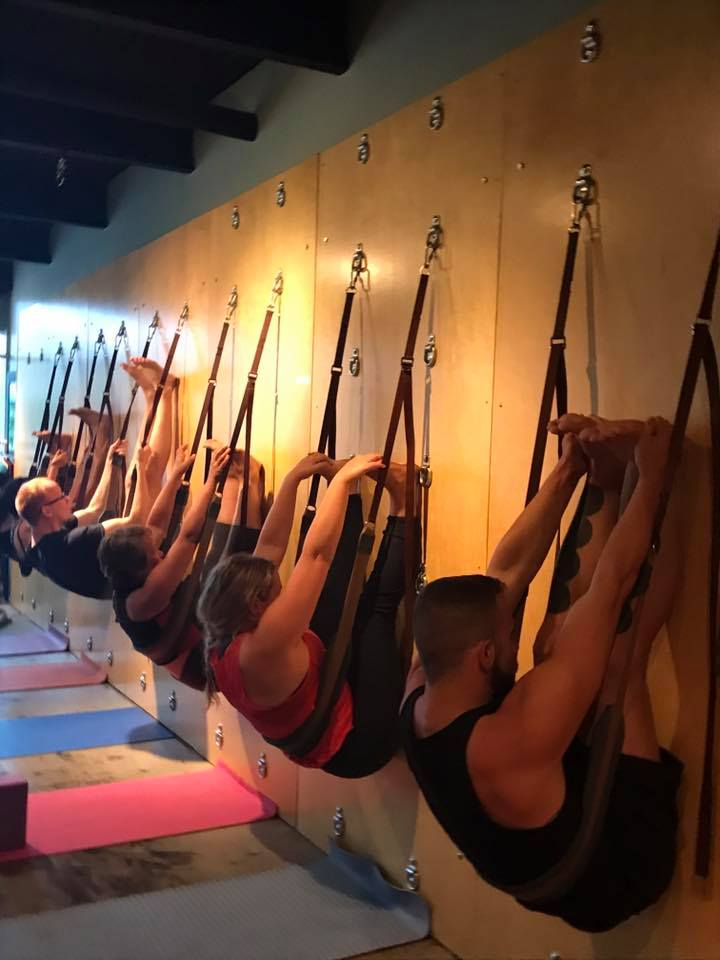 Wall Yoga - We offer wall yoga by appointment  up to 10 people. We also have classes on the following dates: Oct 14 10:00am, Oct 16 & 23 6:00pm.