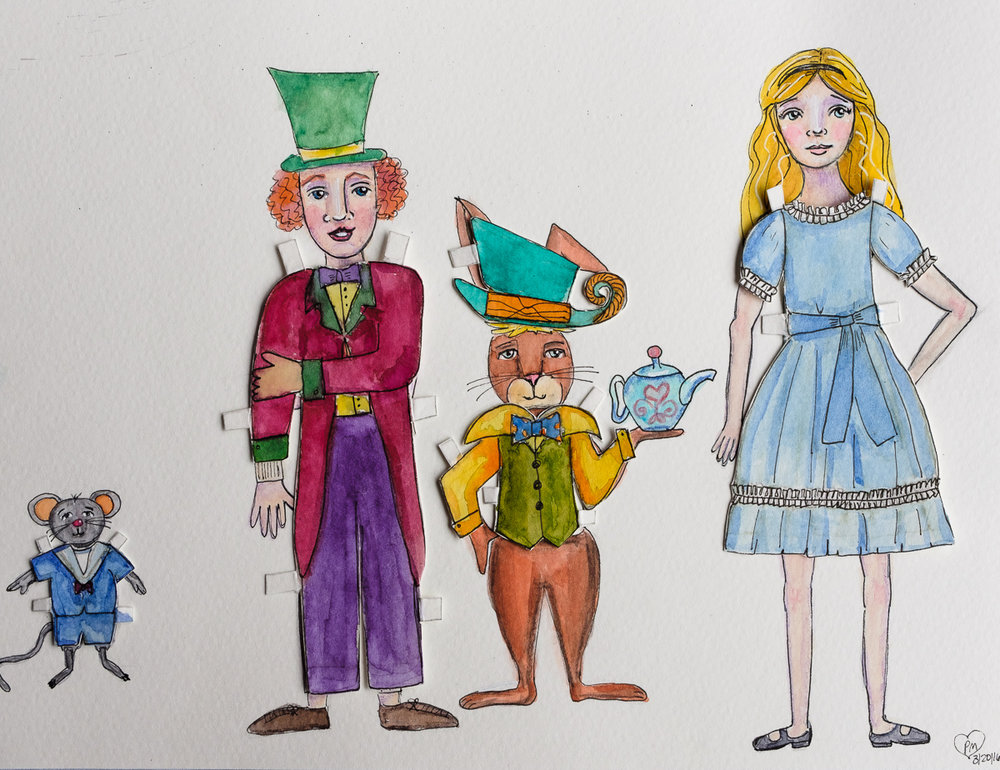 Alice and Friends Paper Dolls Dressed 1