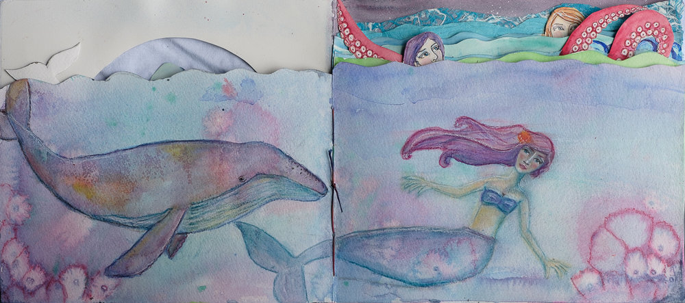 Pastel Mermaid and Humpback