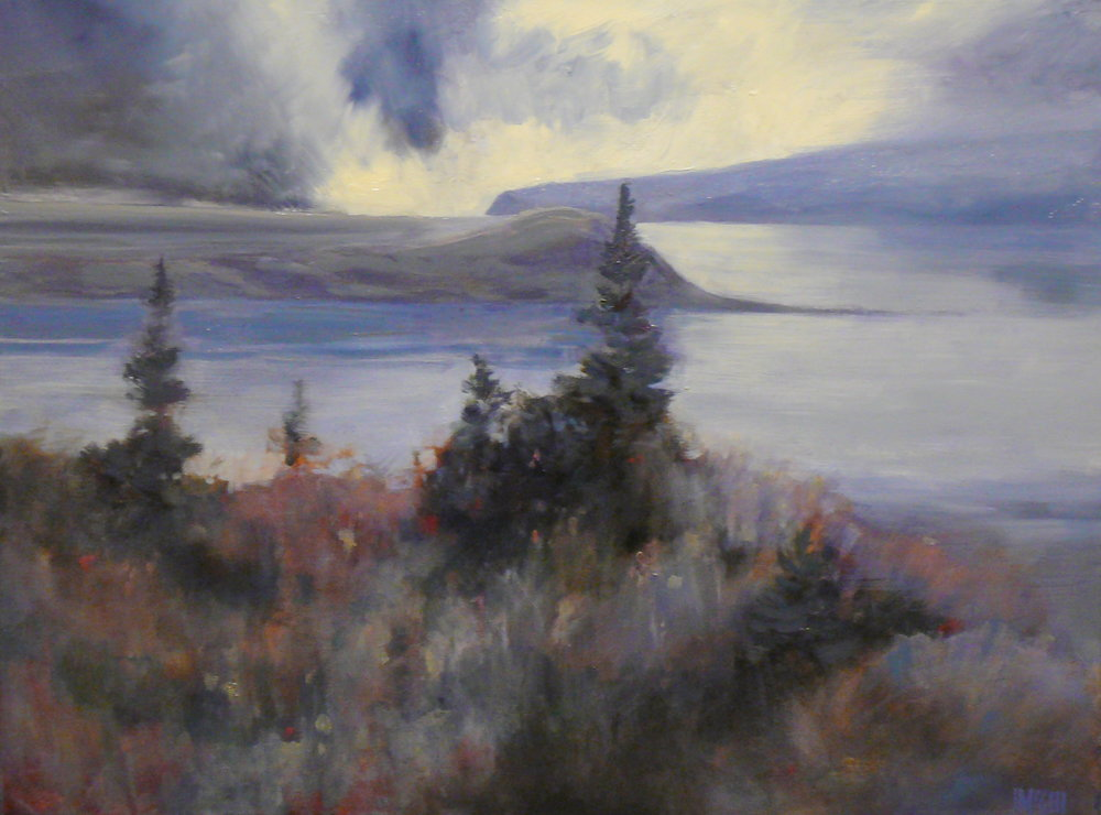 Storm over Isle aux Coudres   SOLD