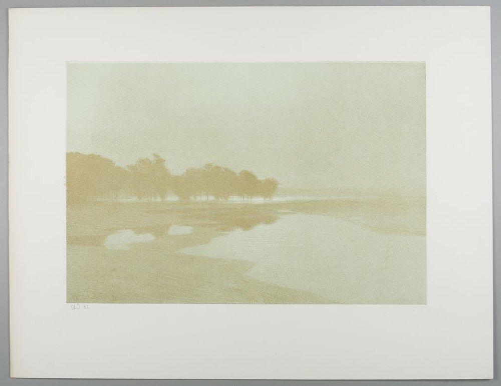 "Charles-Marie Dulac, ""  Stella Matutina  "", lithograph, 32 cm x 48 cm., 1894. Harvard Art Museums"