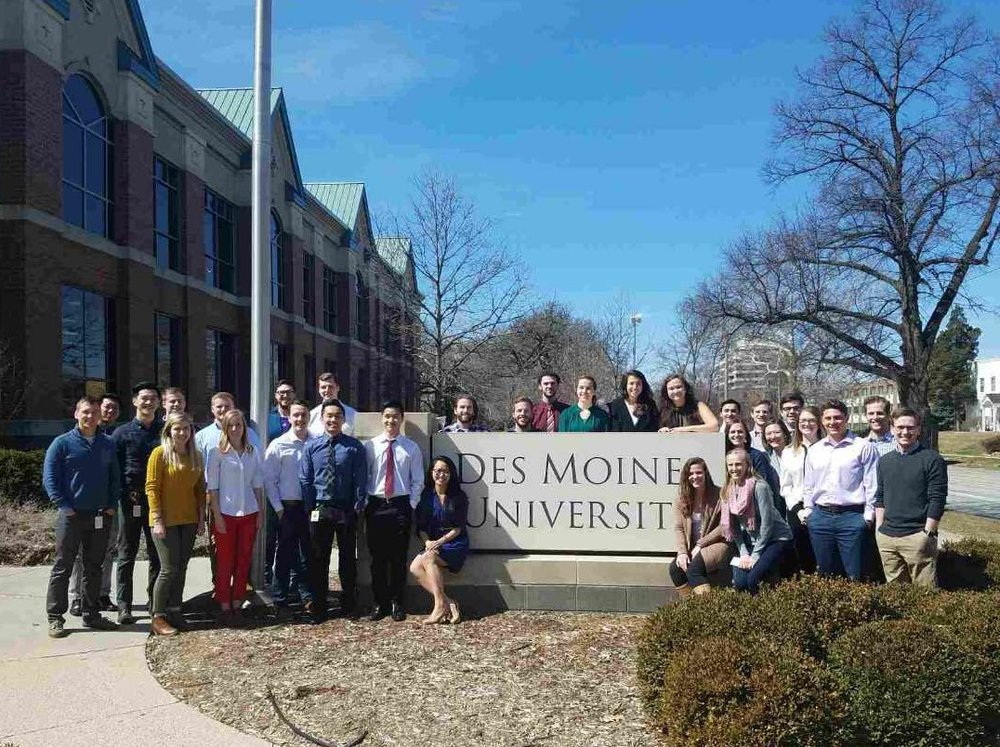 - Congratulations to the Spring 2018 inductees of the SSP Beta Chapter at Des Moines University College of Osteopathic Medicine!