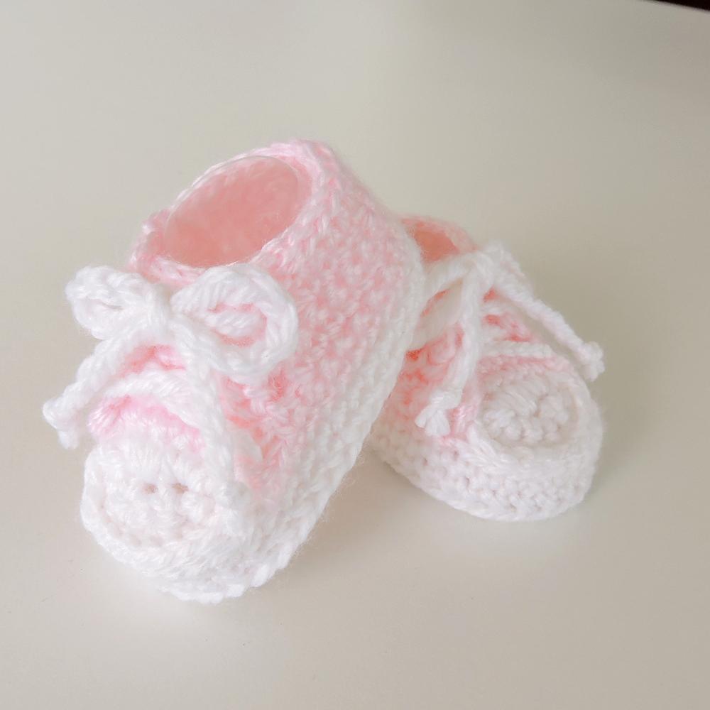 Calidad superior aedcf 2a737 Tenis Rosa Tejidos a Mano para Bebé Niña — JC Avil Baby | Ropa de Bebe  Hecha a Mano | Puerto Rico