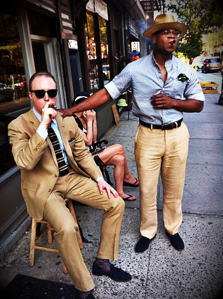 Gabriel Schulman and Jamian Polk in the streets of the Lower East Side, NYC