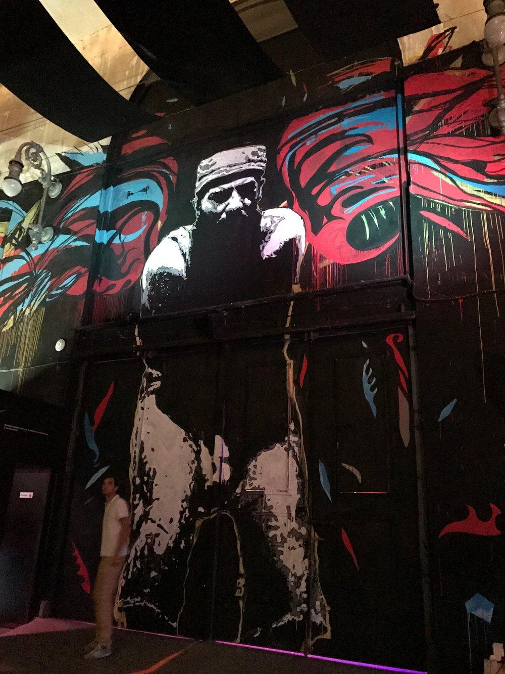 """One of the exits at """"Fabrica de Arte Cubano"""""""