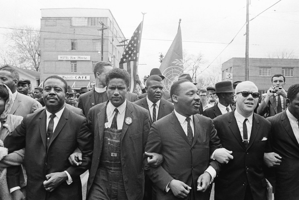 Martin Luther King Jr. Marching in Selma, Alabama