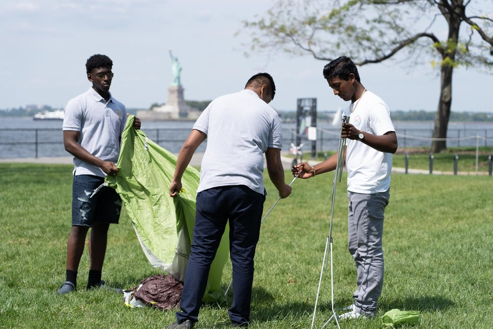 NYC Urban Ambassadors at Governors Island. Photo by Andy Isaacson