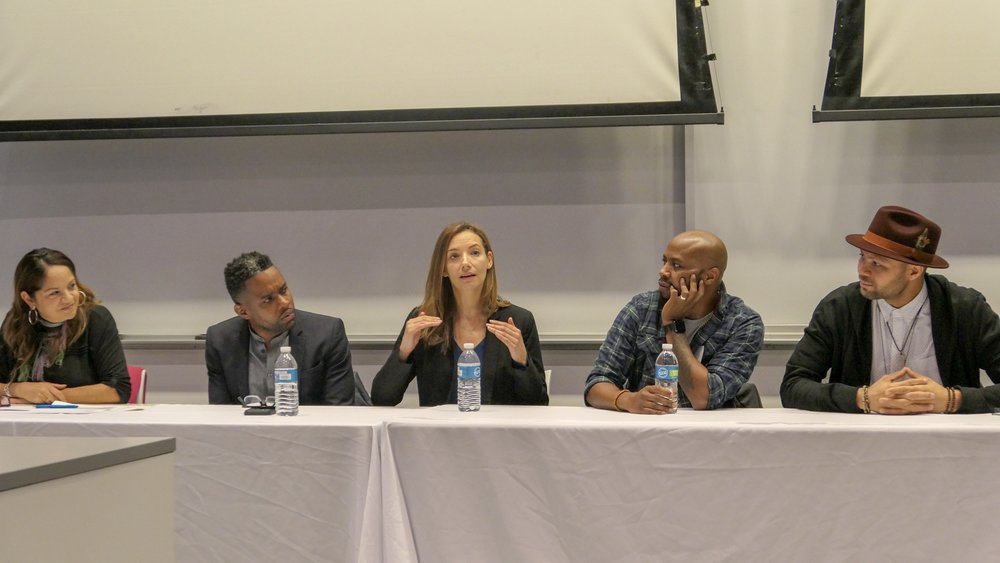 Victoria Rivera, LCSW, Wellness Psychotherapist , speaks at the Breakfast of Champions panel on Mental Health and Wellness Careers on November 10, 2018
