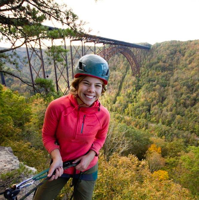 Becca guiding in the New River Gorge, West Virginia