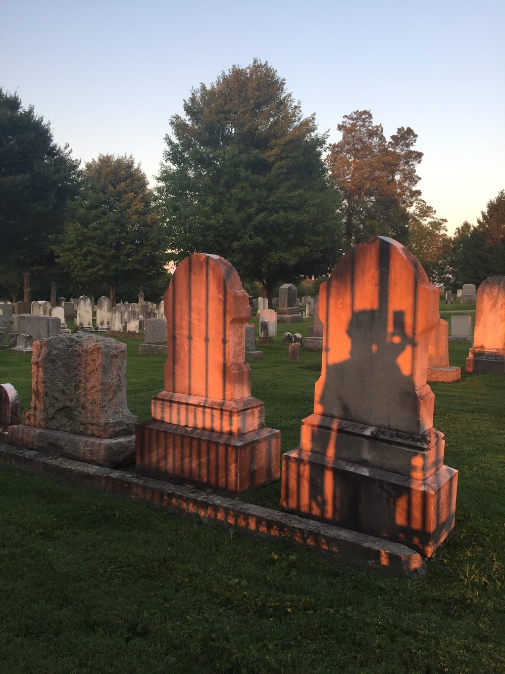 Gravestones on Cemetery Hill.