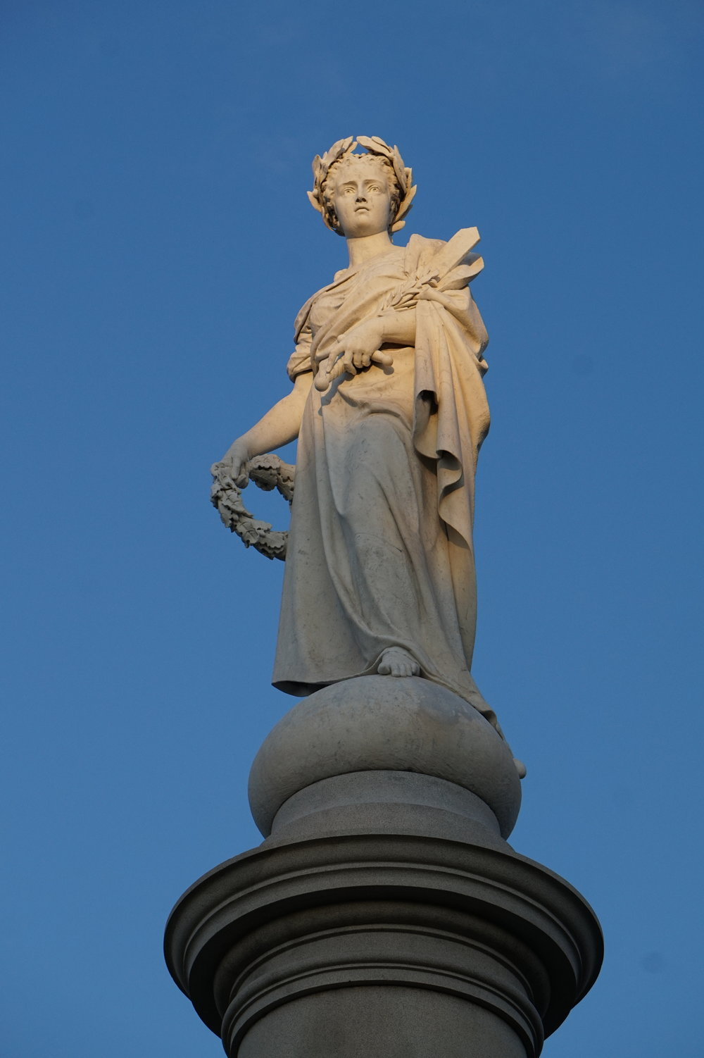 Liberty, the statue crowning the Soldiers' National Monument.
