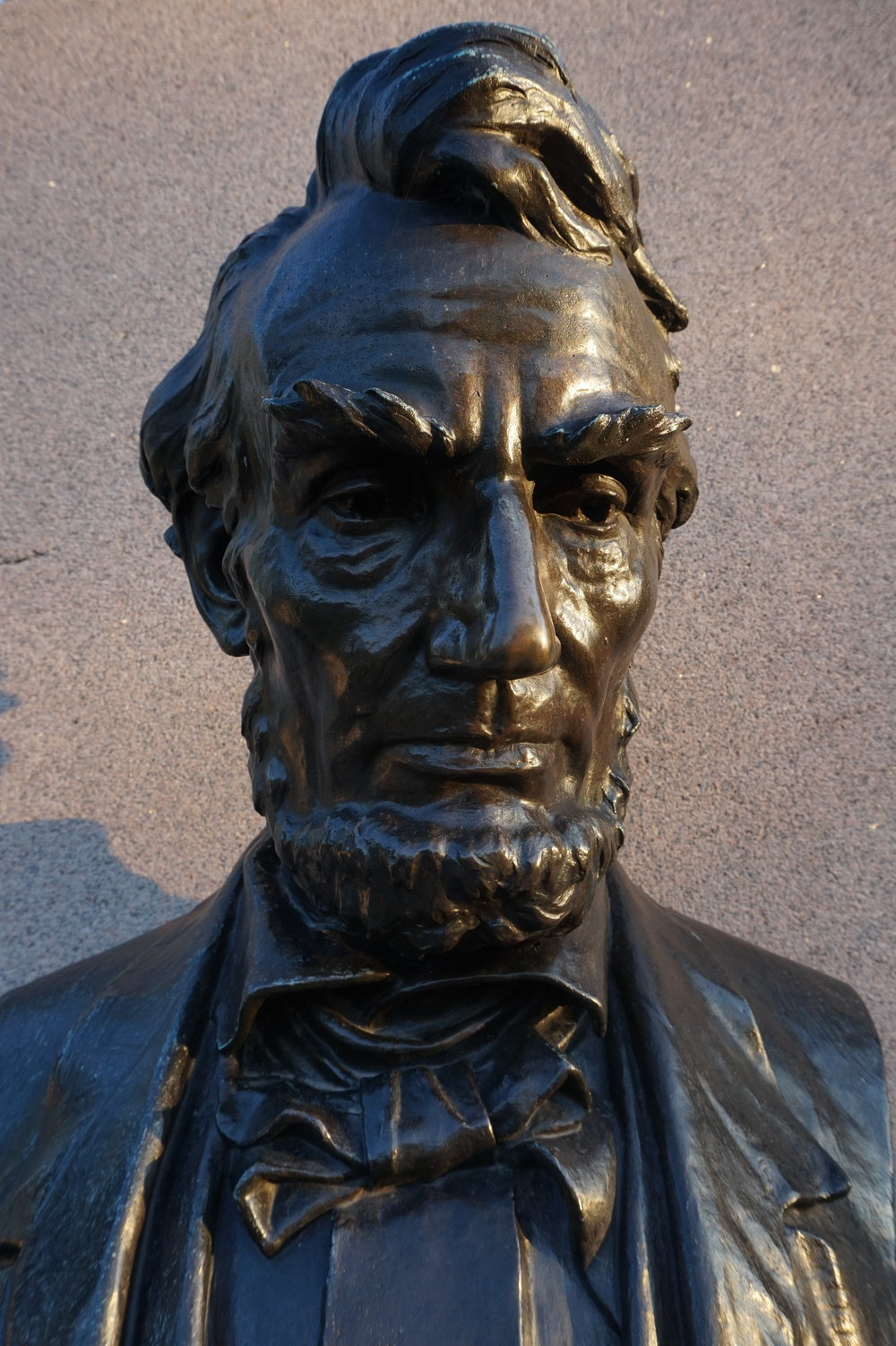 Bust of Abraham Lincoln at the Soldiers' National Cemetery, where he delivered the Gettysburg Address on November 19, 1863.