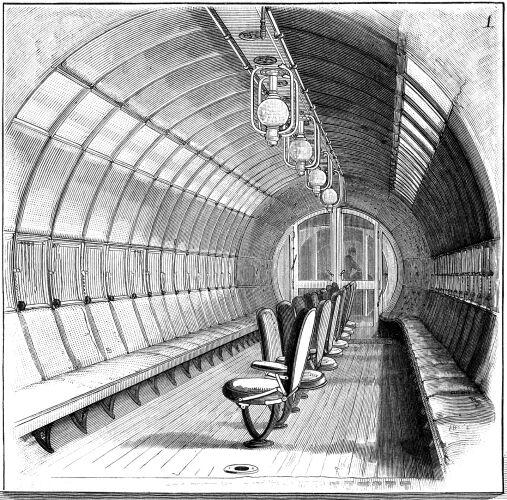 Meigs Passenger Car, Internal View