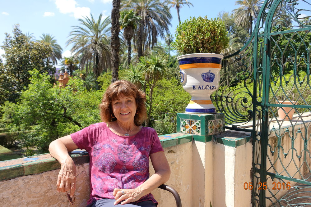 Here I am relaxing in Seville, Spain