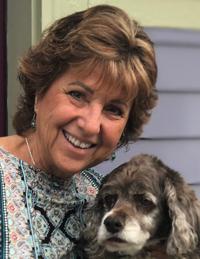 Christina Albetta with her dog.