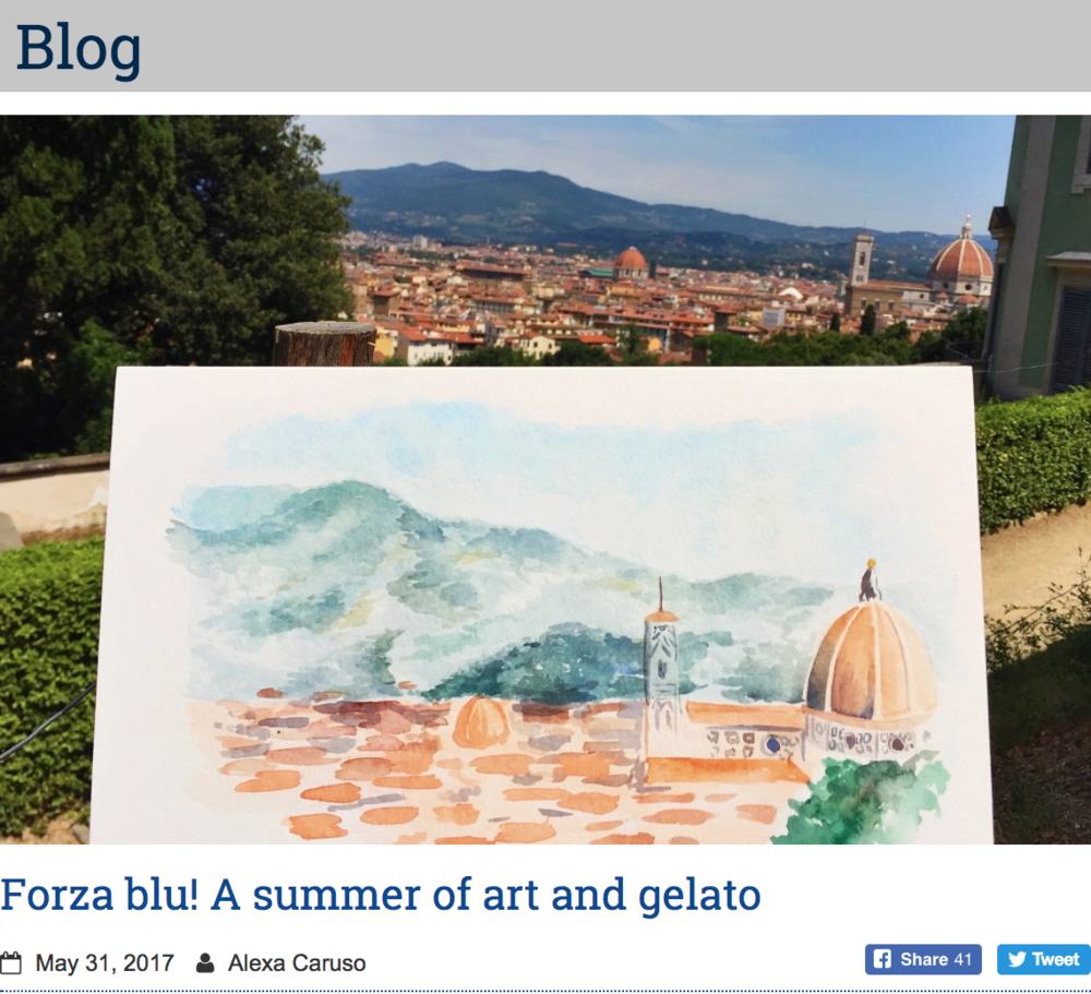 "- ""More than anything I want to be home now. I'm really hoping I grow to love this city or that the month goes by quickly!"" The chance to spend all of July in Florence to study art sounds like a dream, right?Unless you're me... read more"